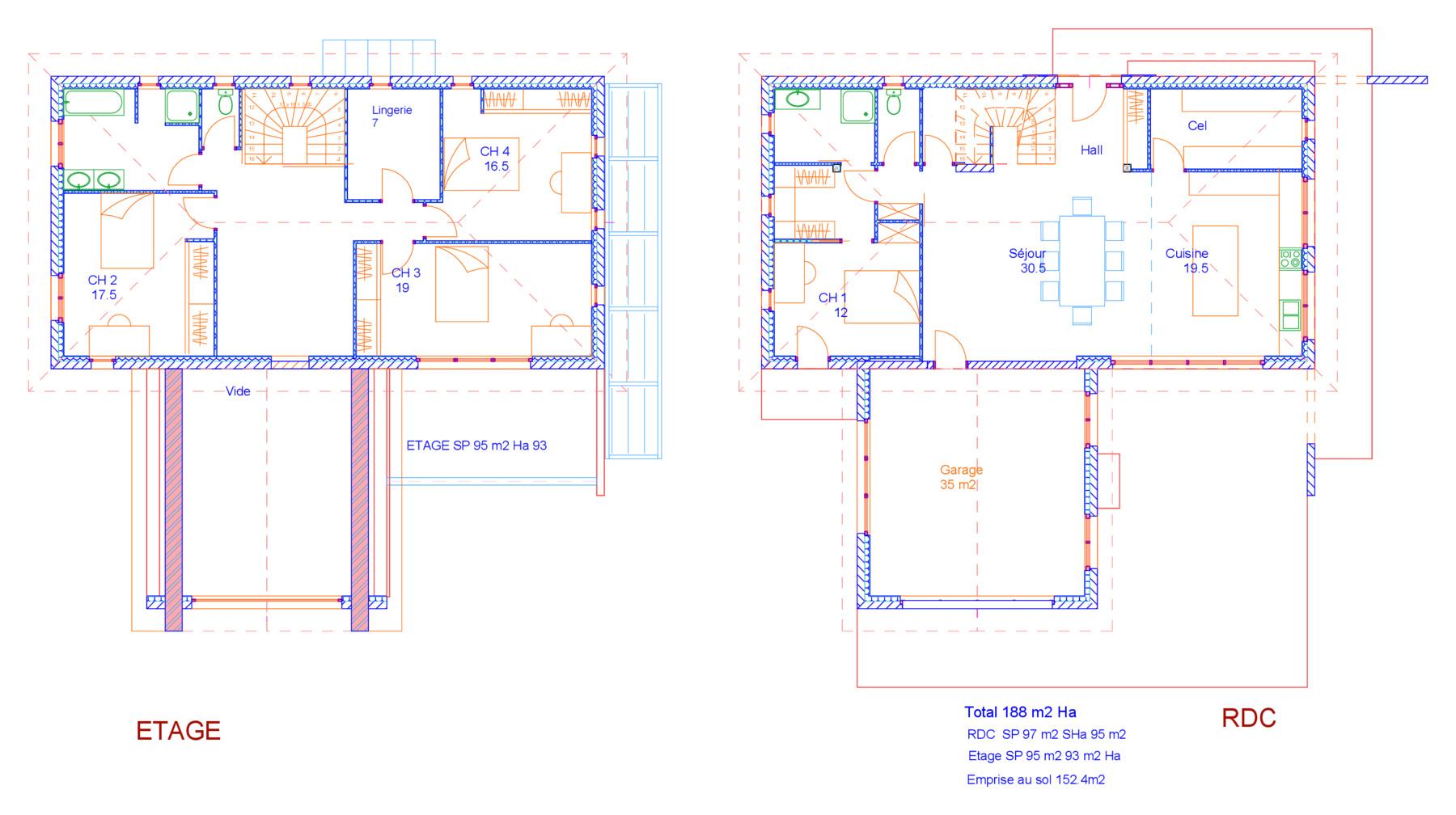 Michel jarthon architecte dplg maisons - Plan renovation maison ...