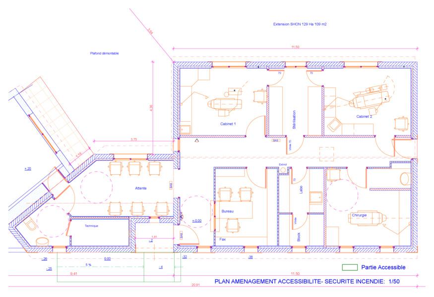 Michel jarthon architecte dplg services b timents publics - Accessibilite cabinet medical ...
